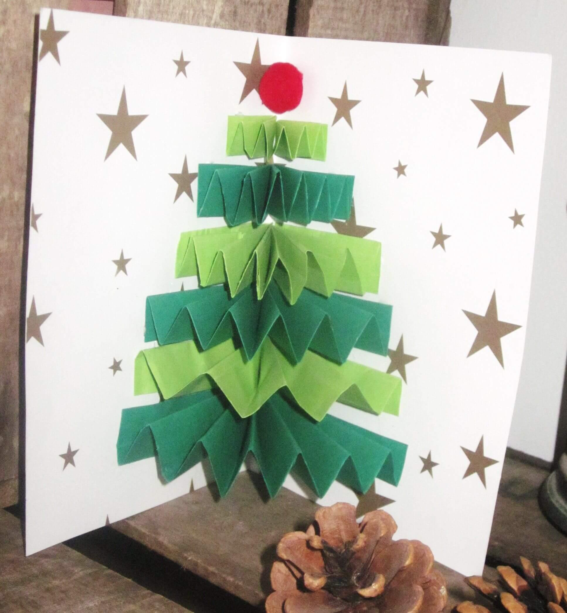 узнать елка из бумаги своими руками на открытке прошлый